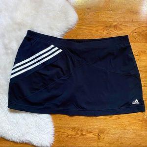 Adidas Black Stripe Tennis Skort